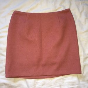 blush pink mini skirt